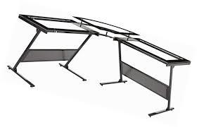 Z Line Designs Computer Desk Z Line Designs Zl1429 1du Delano Glass L Computer Desk Ebay