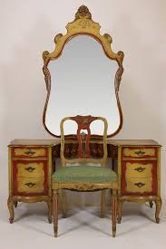 Antique Vanity With Mirror Antique Robert W Irwin Hand Painted Vanity Desk Chair U0026 Mirror