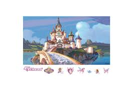 Disney Castle Wall Mural Sofia The First Castle Mural Wall Decal Shop Fathead For Sofia
