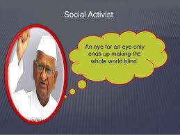 An Eye For An Eye Will Make The World Blind Social Entrepreneurship Topic 1