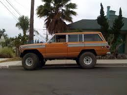 jeep station wagon lifted the street peep 1973 jeep wagoneer