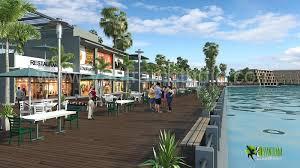 3d exterior rendering restaurant design by yantramstudio 3d