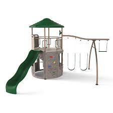 Playground Flooring Lowes by Shop Lifetime Products Lifetime Adventure Tower Metal Playset With