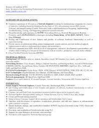 Best Engineer Resume by Network Engineer Resume Sample Berathen Com