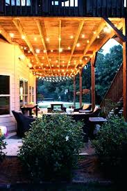 String Outdoor Patio Lights Diy Outdoor Patio Lighting Ideas Stringing Lights String Led