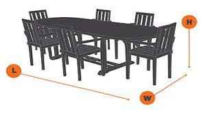 Cover For Patio Table And Chairs How To Measure For Patio Furniture Covers