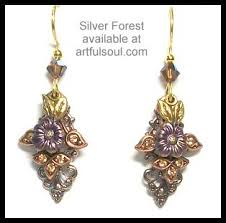 silver forest earrings silver forest earrings