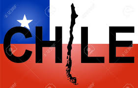 Texas Flag Chile Flag Chile Text With Map On Chilean Flag Illustration Stock Photo