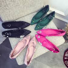 wedding shoes murah 2016 satin shoes for wedding bridesmaid shoes crystals flat