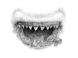 these eerie pencil drawings of lips are much more than they seem