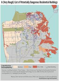 San Francisco State University Map by Potentially Earthquake Unsafe Residential Buildings U2014 A Very