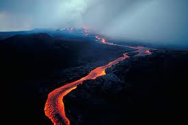 Hawaii Lava Flow Map Hawaiian Fountain Feeding A Lava Flow During 1984 Mauna Loa