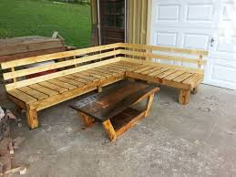 Wood Garden Bench Plans by Attractive Outdoor L Shaped Bench Wooden Pallet Outdoor Bench