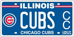 Vanity Playes Cubs License Plates