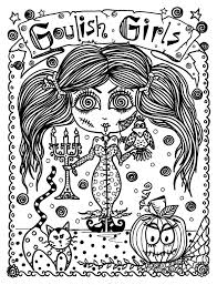 Halloween Coloring Pages Adults 5 Books Halloween Coloring Pack Save Money And By Chubbymermaid