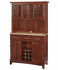cherry kitchen hutch china cabinet buffet wood dining pantry wine