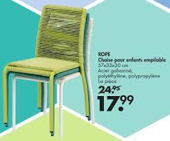 chaise de jardin enfant casa promotion chaise pour enfants empilable produit maison