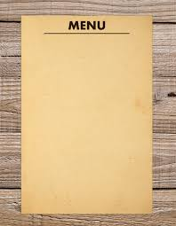 free blank menu template 36 blank menu templates free sle exle format