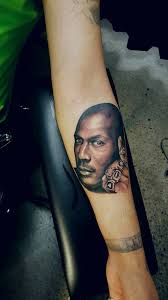 chronic ink tattoo toronto tattoo michael jordan portrait tattoo