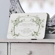 theme wedding invitations woodland wedding invitations cloveranddot