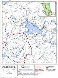 Wildfire Map Bc Today by Sept 4 Elephant Hill Fire Now Estimated At 192 725 Hectares