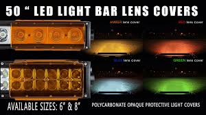 Led Light Bar Color Changing by 50 Inch Light Bar Lens Covers Youtube