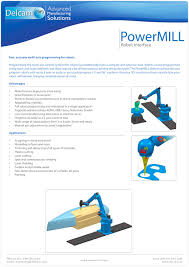 powermill robot interface delcam pdf catalogue technical