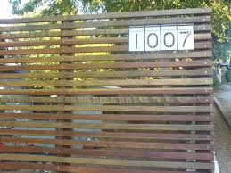 modern fence w solar led numbers jason fields flickr