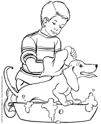 dog and puppy coloring pages dog coloring pages printable happy dog bath coloring page sheet
