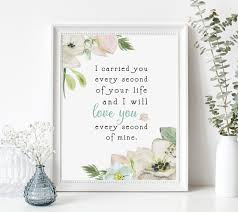 miscarriage sympathy gift print infant loss death of loved one