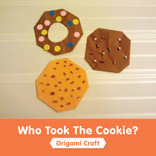 who took the cookie simple origami craft super simple