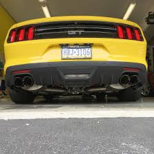 Black Roush Mustang Corsa Mustang Xtreme 3 In Cat Back Exhaust Black Quad Tips