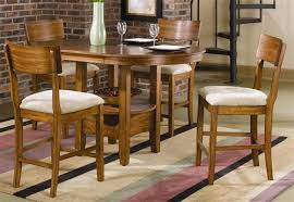 Storage Counter Height  Piece Dining Set With RoundOval Table - Oak counter height dining room tables