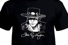 stevie vaughan signature tribute t shirt