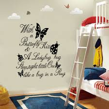 ladybug bedroom butterfly kiss ladybug quotes wall stickers cartoon kids bedroom
