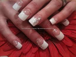 acrylic nail designs white tip 10 styles of white tips nails