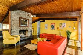 Orange Leather Sofa 24 Orange Living Room Ideas And Designs Wow