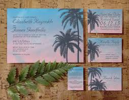 palm tree wedding invitations palm tree wedding invitation set suite invites save the