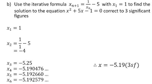gcse new content u2013 iterative methods for numerical solution of