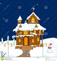 Christmas House by Christmas Decorated House Stock Images Image 34298484