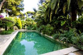 interior easy the eye pool landscape surrounded greenery