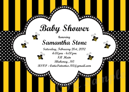 to bee baby shower baby shower invitations bumble bee theme badi deanj