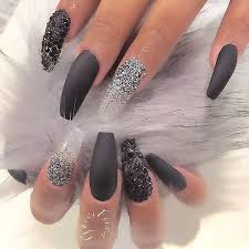 50 coffin nail art ideas matte black nail polish matte black