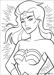 woman coloring picture