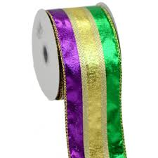 mardi gras ribbon tri color mardi gras ribbon 2 5 by 10 yards rn5459