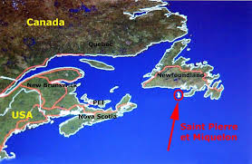 map of st and miquelon worldrecordtour america east canada et