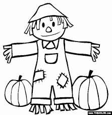 coloring page of fall the truth about scarecrow coloring pages fall and pumpkins page with
