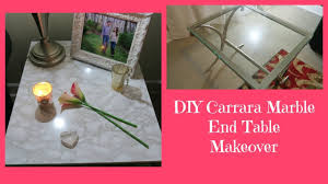 contact paper desk makeover diy carrara marble contact paper furniture makeover youtube