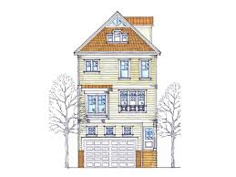 narrow lot house plans coastal house plans 3 story home plan design 058h 0023