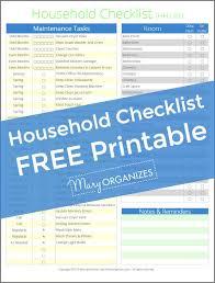 Basic Household Items Checklist Household Management Checklist The Hh List Creatingmaryshome Com
